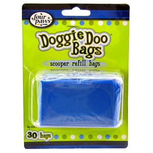Four Paws Doggie Doo Scooper Refill Bags: 30 bags #18257 - Dog Poop Pickup Bags Best Price