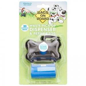 Bags on Board Bags On Board Black Bone Dispenser - Dog Poop Pickup Bag Dispensers Best Price