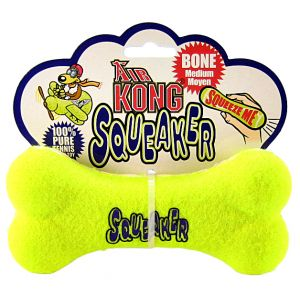 Kong Air Dog Air Kong Bone Squeaker: Medium 6 #ASB2 - Toss and Fetch Dog Toys Best Price