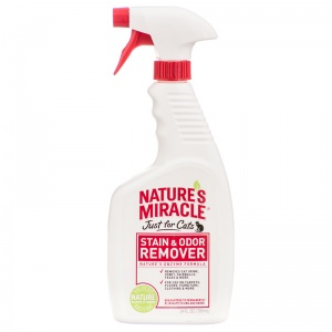 Natures Miracle Just For Cats Stain and Odor Remover: 24 oz Spray #510798 - Stain and Odor Control for Cats Best Price