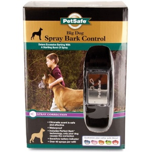 PetSafe Big Dog Spray Bark Control Collar: Adjustable Collar - (Dogs 40 lbs + Fits Necks up to 28) #PBC-00-12724 - Dog Bark Control Trainers Best Price