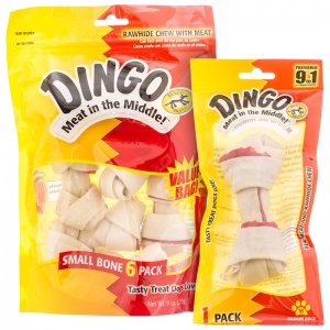 Dingo Mini Meat in the Middle Rawhide Bones - Rawhide Dog Treats Best Price