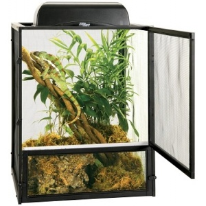 Zoo Med ReptiBreeze Open Air Black Aluminum Screen Cage: Small - (16L x 16W x 20H) #NT-10 - Reptile Cages and Terrariums Best Price