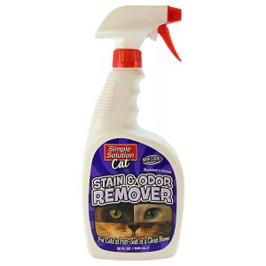 Simple Solution Stain and Odor Remover for Cats: 32 oz Spray #10627 - Stain and Odor Control for Cats Best Price