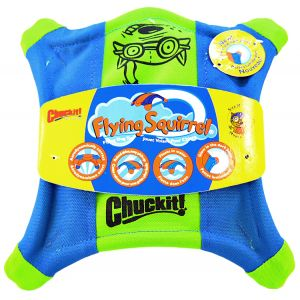 Chuckit Flying Squirrel Toss Toy: Medium - 10 in. x 10 in. #11300 - Toss and Fetch Dog Toys Best Price