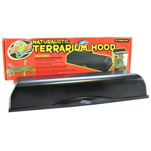 Zoo Med Naturalistic Terrarium Hood: 18 L x 5 W x 3.5 H (2 x 60 Watt) #LF-55 - Reptile Hoods Best Price