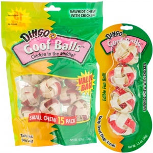 Dingo Goof Balls Chicken in the Middle - Rawhide Dog Treats
