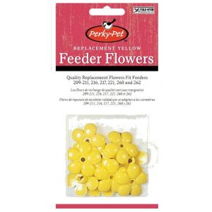 Perky Pet Replacement Yellow Feeding Flowers - Bird Feeder Parts and Accessories Best Price