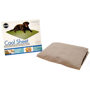 KandH Pet Beds Cool Cover Fitted Sheet: Cappuccino - (32 x 44) #1727 - Heated Dog Pads and Accessories Best Price