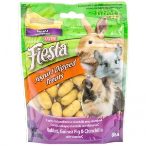 Fiesta Rabbit / Guinea Pig Banana Yogurt Dips - Rabbit Treats