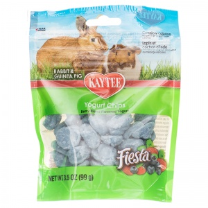 Fiesta Rabbit / Guinea Pig Berry Yogurt Chips: 3.5 oz #100502795 - Rabbit Treats Best Price