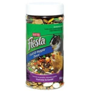 Kaytee Fiesta Fiesta Fruit & Veggie Treat Jar - Hamster/Gerbil: 9 oz
