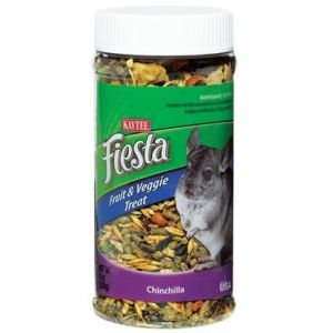 Kaytee Fiesta Fruit & Veggie Treat Jar - Chinchilla: 9 oz
