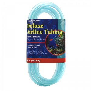 Penn Plax Deluxe Airline Tubing - Flexible Silicone: 8&#039; Long #STD8 - Aquarium and Pond Airline Tubing Best Price