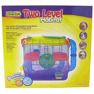 Super Pet CritterTrail Two Level Habitat: CritterTrail 2 - 16L x 10.5W x 16H #50625 - Small Pet Habitats Best Price