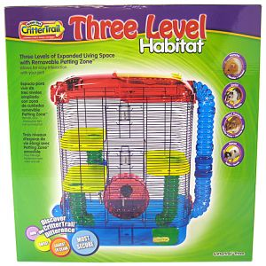 Super Pet CritterTrail Three Level Habitat: CritterTrail 3 - 16L x 10.5W x 22.5H #60530 - Small Pet Habitats Best Price