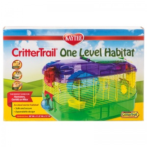 Super Pet CritterTrail One Level Habitat: CritterTrail 1 - 16L x 10.5W x 11H #60515 - Small Pet Habitats Best Price