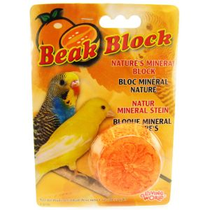 Living World Mineral Beak Block - Orange #82186 - Bird Beak Conditioners Best Price