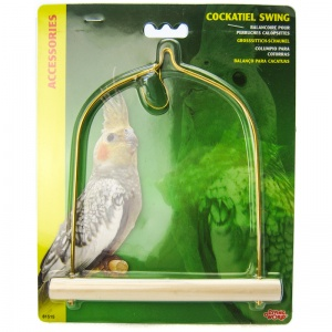 Living World Cockatiel Swing with Wood Perch #81515 - Bird Perches Best Price