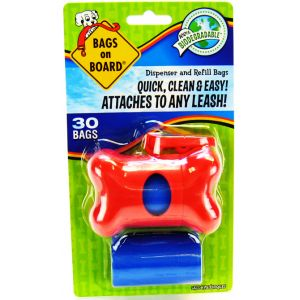 Bags on Board Bags On Board Red Bone Dispenser #3203910402 - Dog Poop Pickup Bag Dispensers Best Price