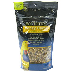 Ecotrition Golden Honey Flavor Variety Blend for Canary and Finch: Pouch - 8 oz #P-B517 - Canary Food Best Price