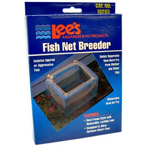 Lees Fish Net Breeder: Fish Net Breeder - (6.5L x 4.75W x 5.25H) #10265 - Fish Breeding Tanks Best Price