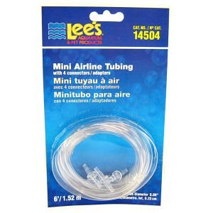 Lees Mini Airline Tubing with 4 Connectors #14504 - Aquarium and Pond Airline Tubing Best Price