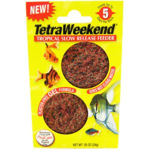 Tetra Weekend Tropical Slow Release Feeder - 5 Day Gel #77151 - Fish Vacation Feeder Blocks Best Price