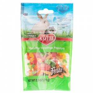 Fiesta Healthy Toppings for Small Animals - Papaya - Small Pet Fruit Treats Best Price