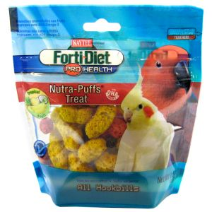 Forti-Diet Avian Nutra Puffs - Tropical Fruit: 1.5 oz #100502965 - Cockatiel Treats Best Price