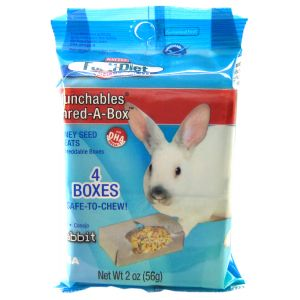 Forti-Diet Munchables Shred-A-Box for Rabbits: 2 oz - 4 Boxes #100503017 - Rabbit Treats Best Price