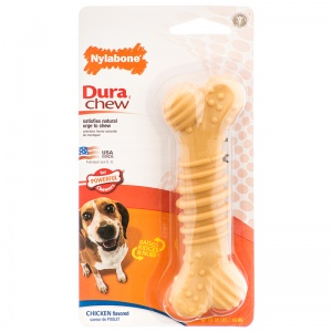 Nylabone Plus Dura Chew - Chicken Flavor: Wolf #NCF303 - Dog Chew Bones Best Price
