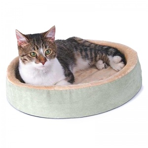 KandH Pet Beds Thermo Kitty Cuddle Up - 16 Diameter - Heated Cat Beds Best Price
