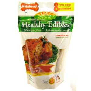Healthy Edibles All Natural - Chicken Flavor: Petite - (8 Pack) #NBQ101M - Natural Dog Treats Best Price