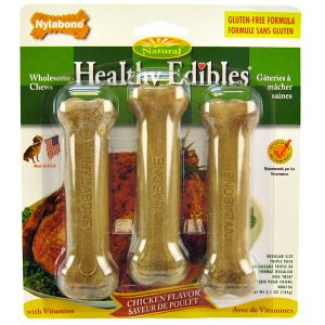 Healthy Edibles All Natural - Chicken Flavor: Regular - (3 Pack) #NBQ106 - Natural Dog Treats Best Price