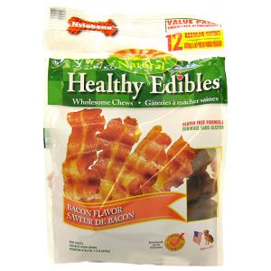 Healthy Edibles All Natural - Bacon Flavor: Regular - (12 Pack) #NEB802M - Natural Dog Treats Best Price