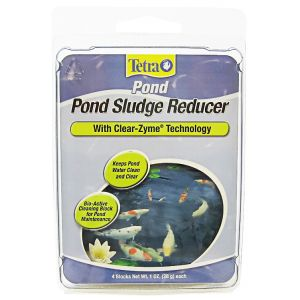 Tetra Pond Pond Sludge Reducer with Clear-Zyme Technology: 1 oz - (4 Blocks) #16736 - Pond Biological Treatments Best Price