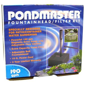 Pondmaster Pump and Fountain Kit - 190 GPH #2273 - Pond Fountain Kits Best Price