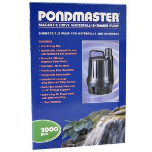 Pondmaster Mag-Drive Waterfall Pump: 2 000 - (1 650 GPH - Max Head 13 Feet) #MSWP20-2000 - Pond Waterfall Pumps Best Price