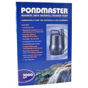 Pondmaster Mag-Drive Waterfall Pump: 3 000 - (2 550 GPH - Max Head 14.5 Feet) #MDWP30-3000 - Pond Waterfall Pumps Best Price