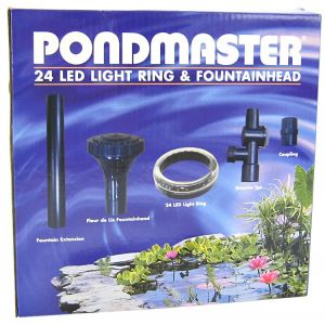 Pondmaster 24 LED Ring with Fountainhead - Pond Lighting Best Price