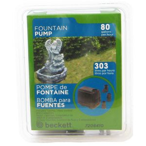 Beckett Pond and Fountain Pump: 60 GPH #M60AUL 7061010 - Pond Fountain Kits Best Price