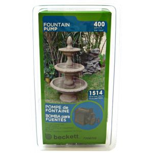 Beckett Pond and Fountain Pump: 400 GPH #M400AUL 7061310 - Pond Fountain Kits Best Price