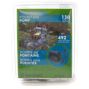 Beckett Pond and Fountain Pump: 130 GPH #M130AUL 7091510 - Pond Fountain Kits Best Price