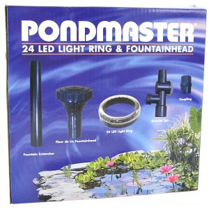 Pondmaster 24 LED Ring with Fountainhead #2185 - Pond Lighting