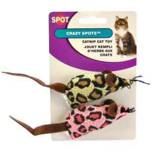 Spot Plush Crazy s Mice with Catnip - 2 Pack - Cat Mice Toys Best Price