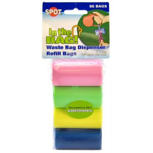 Spot In The Bag Refill Bags: 96 bags - 8 rolls x 12 bags per roll #98428 - Dog Poop Pickup Bags Best Price