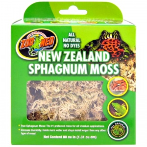 Zoo Med All Natural New Zealand Sphagnum Moss: 80 Cu. Inches #CF3-NZ - Reptile Terrarium Plants Best Price