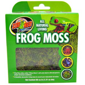 Zoo Med All Natural Terrarium Frog Moss: 80 Cu. Inches #CF3-FM - Reptile Terrarium Plants