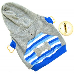 Fashion Pet Active Striped Blue Hoodie - Active Dog Wear Best Price